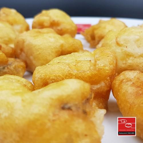 Pescado frito en tiritas