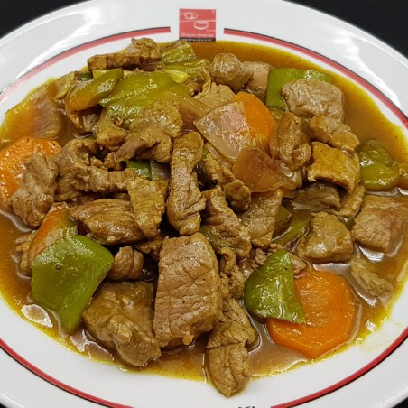 Ternera en salsa de curry
