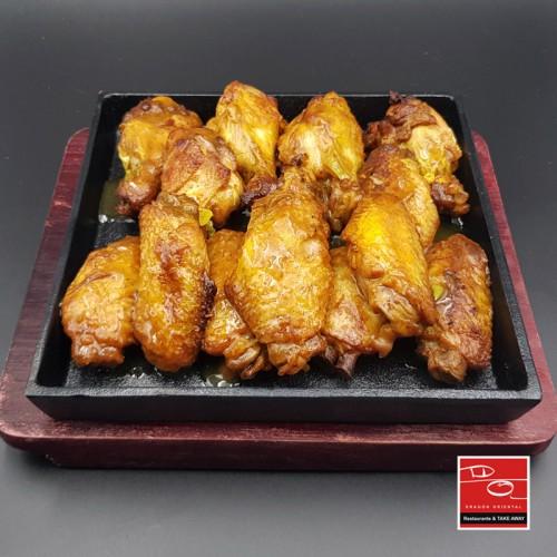 Alitas de pollo a la plancha estilo cantonés