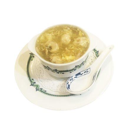 Sopa de pollo con champiñones