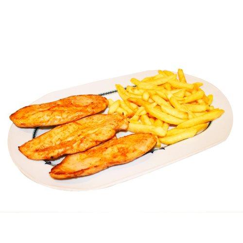Filete de pollo a la plancha con patatas