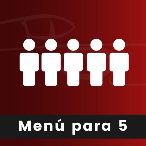 MENÚ PARA 5